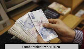 Esnaf Kefalet Kredisi 2020